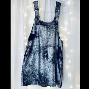 Metallic black overall skirt thing!